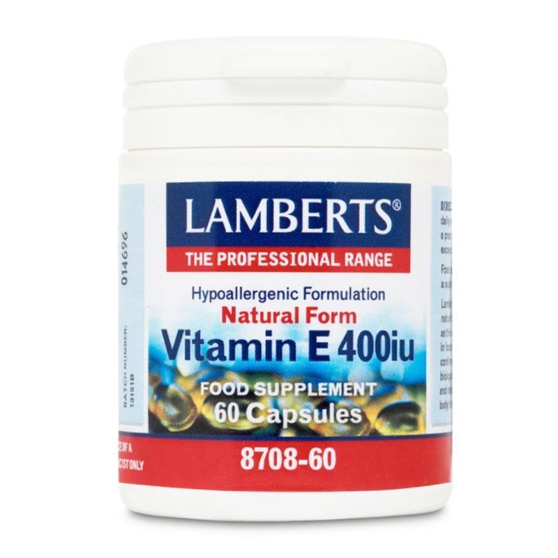 Lamberts Vitamin E 400iu Natural Form 60 κάψουλες