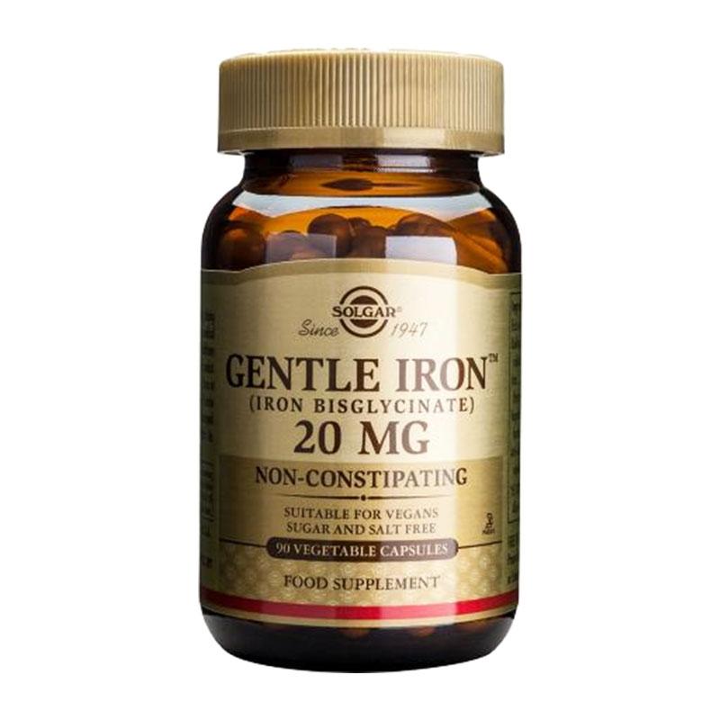 Solgar Gentle Iron 20mg 90 κάψουλες