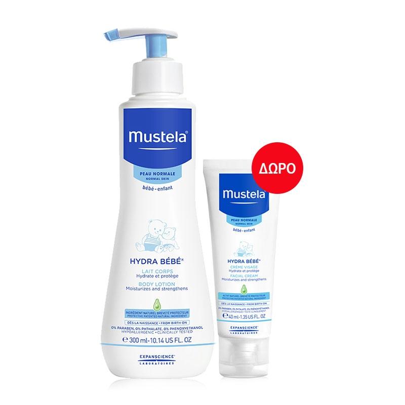 Mustela Hydra Bebe Body Lotion 300ml & Facial Cream 40ml