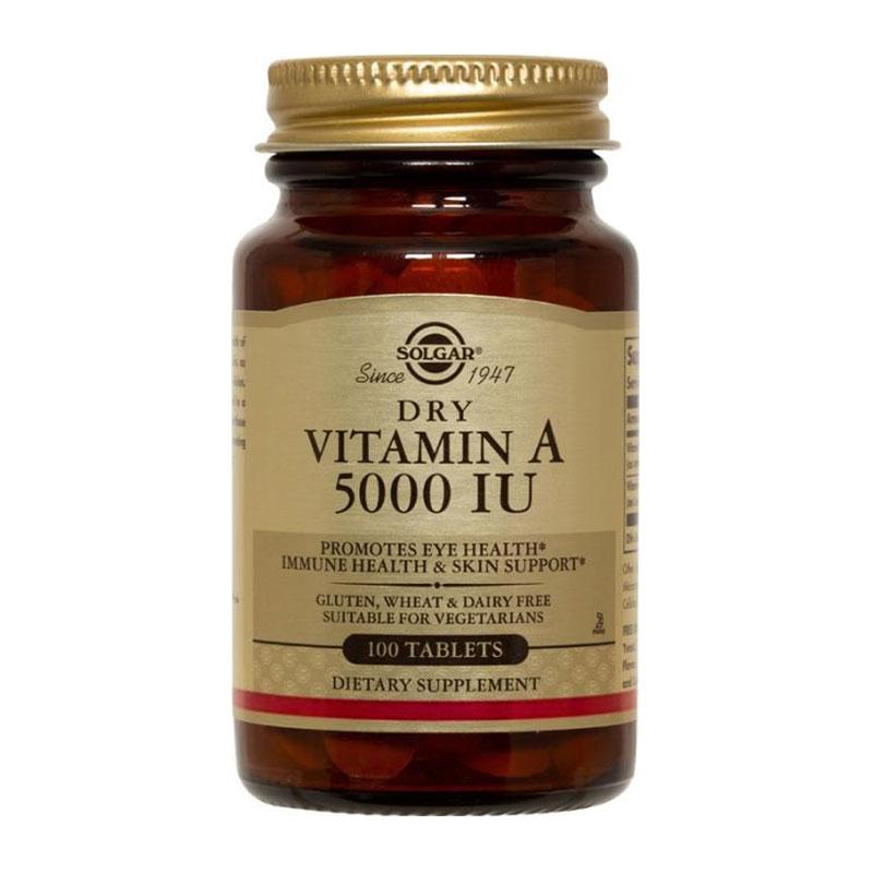 Solgar Dry Vitamin A 5000iu 100 Tαμπλέτες