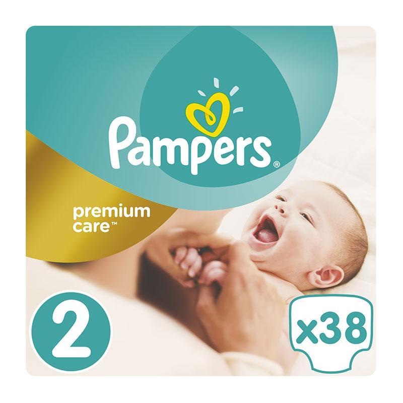 Pampers Πάνες Premium Care Pack No2 (3-6Kg) 38τεμ.