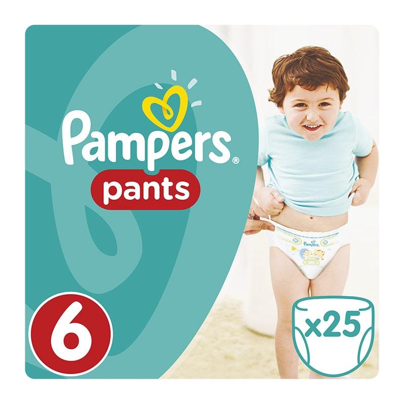 Pampers Πάνες Pants No 6 (16+ Kg) 25τεμ.