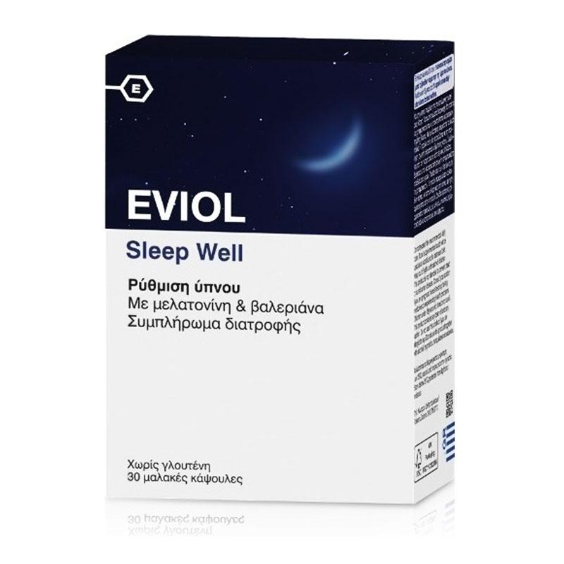 Eviol Sleep Well Ρύθμιση Ύπνου 30 Μαλακές Κάψουλες