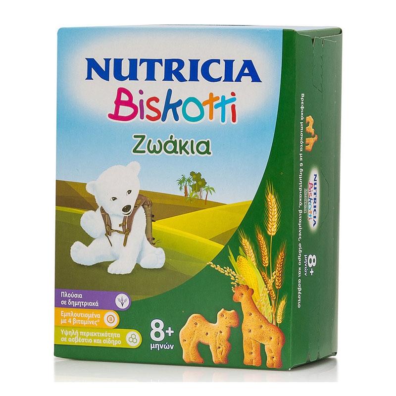 Nutricia Biskotti Ζωάκια 8m+ 180gr