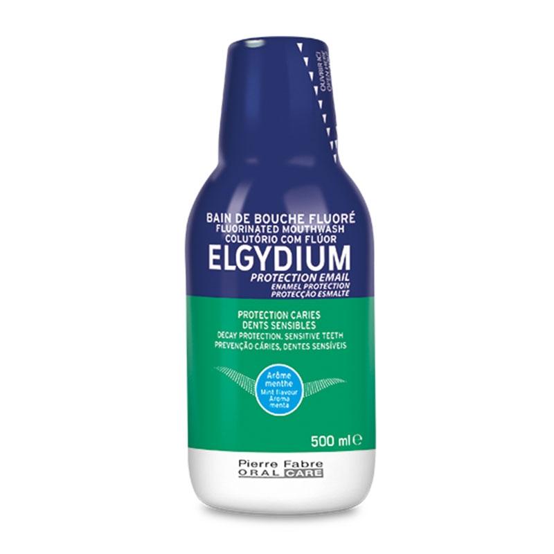 Elgydium Στοματικό Διάλυμα Κατά της Τερηδόνας με Γεύση Μέντα 500ml