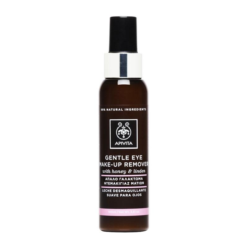 Αpivita Gentle Eye Make-Up Remover With Honey & Linden Απαλό Γαλάκτωμα Ντεμακιγιάζ Ματιών 100ml