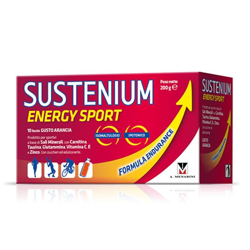 Menarini Sustenium Energy Sport 10 φακελάκια με γεύση Πορτοκάλι