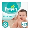 Pampers Πάνες Pro Care Premium Protection No3 (5-9kg) 32τεμ.
