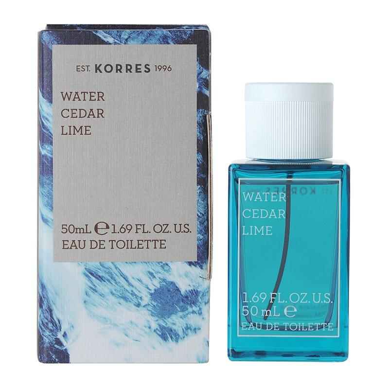 Korres Ανδρικό Άρωμα Water Cedar & Lime Eau de Toilette 50ml