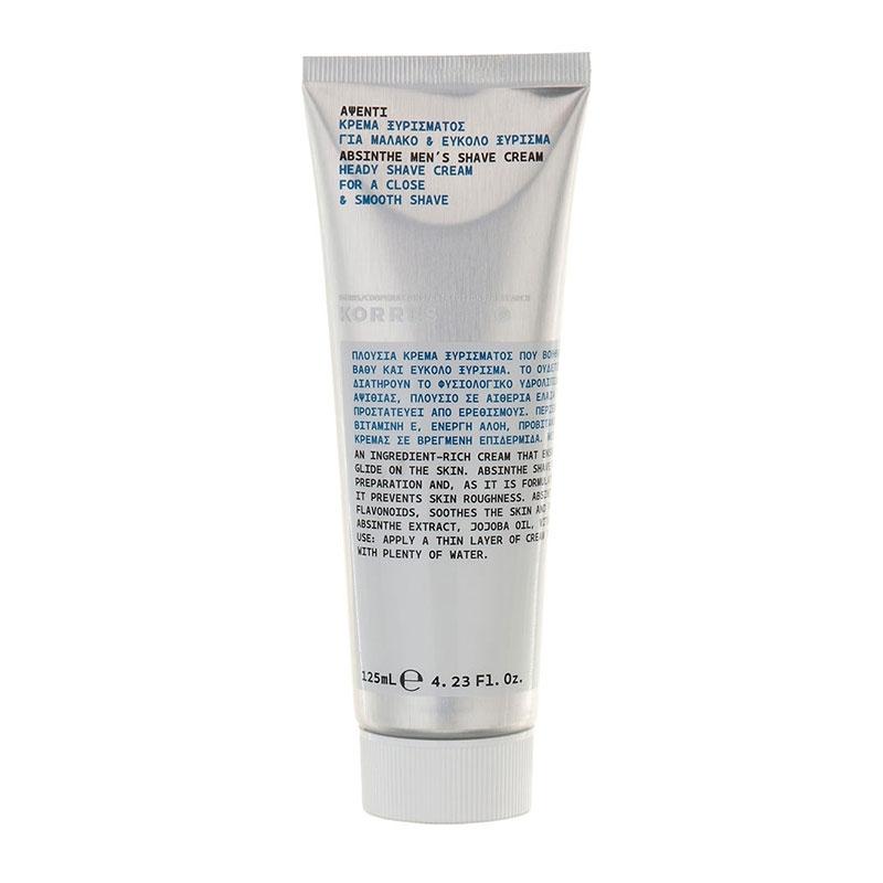 Korres Men`s Shave Cream Κρέμα Ξυρίσματος 125ml