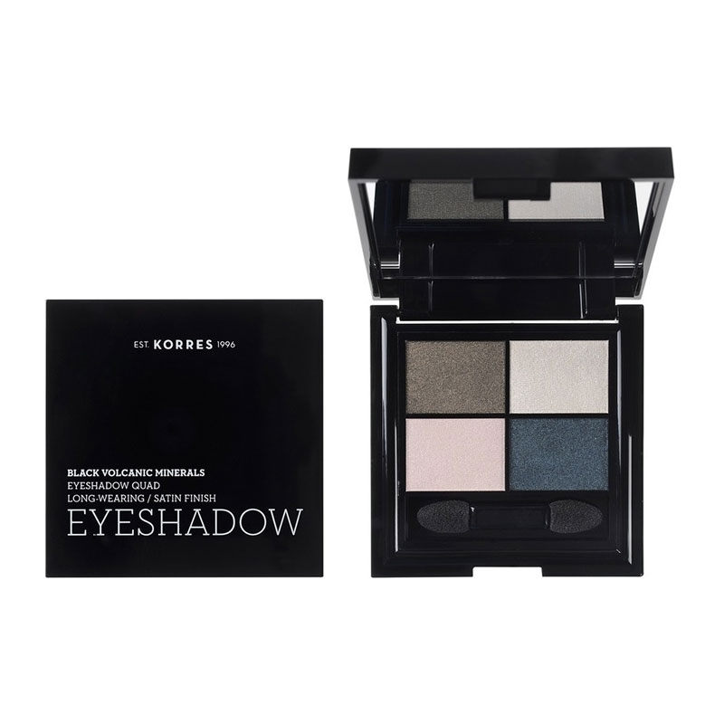 Korres Black Volcanic Minerals Eyeshadow Quad The Candy Green 5g