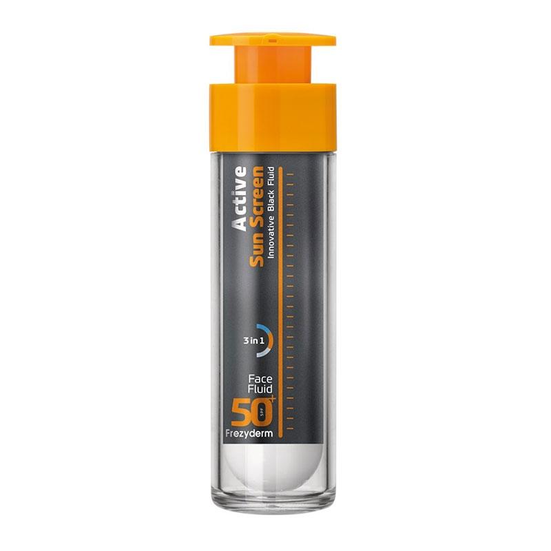 Frezyderm Active Sun Screen Face Fluid Αντηλιακή Κρέμα Προσώπου SPF50 50ml