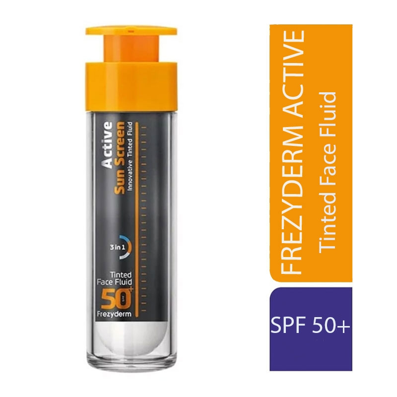 Frezyderm Active Sun Screen Tinted Face Fluid Αντηλιακή Κρέμα Προσώπου με Χρώμα SPF50 50ml