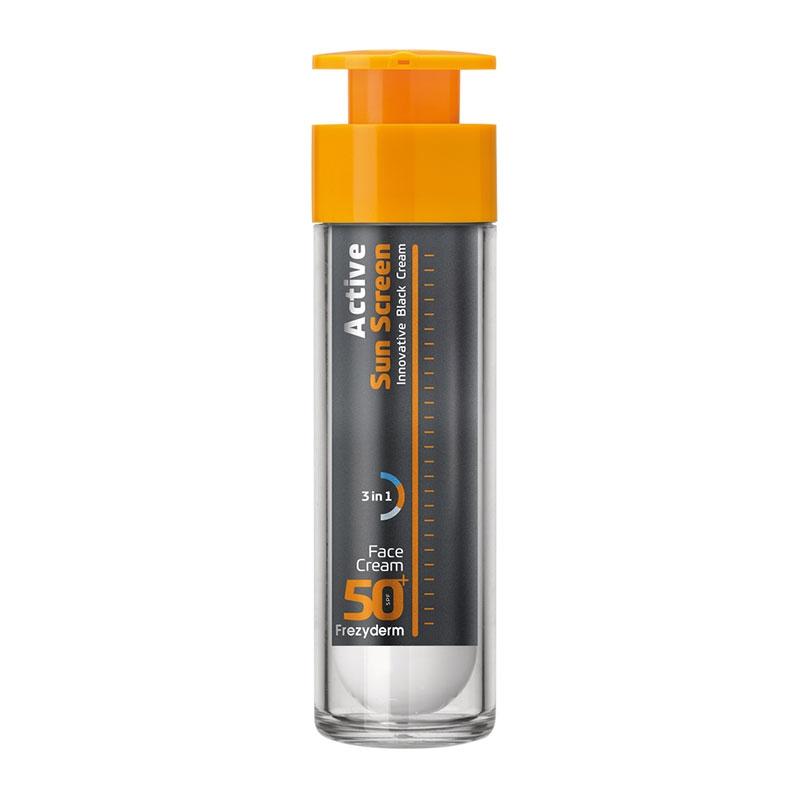 Frezyderm Active Sun Screen Face Cream Αντηλιακή Κρέμα Προσώπου SPF50 50ml