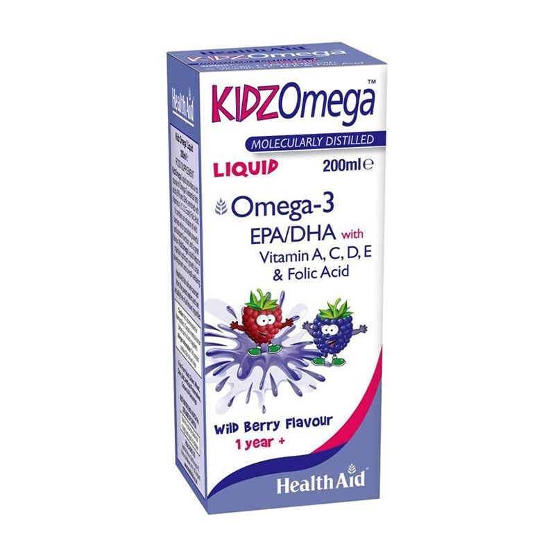 Health Aid Kidz Omega Σιρόπι Με Γεύση Βατόμουρο 200ml