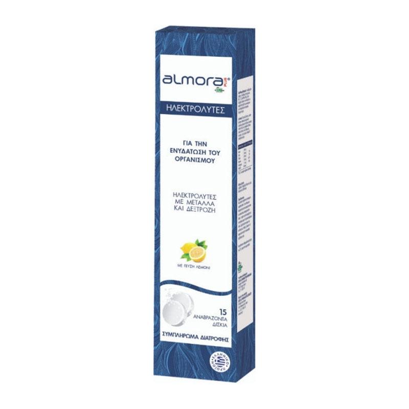 Almora Plus Ηλεκτρολύτες για την Ενυδάτωση του Οργανισμού με γεύση Λεμόνι 15 Αναβραζοντα Δισκία