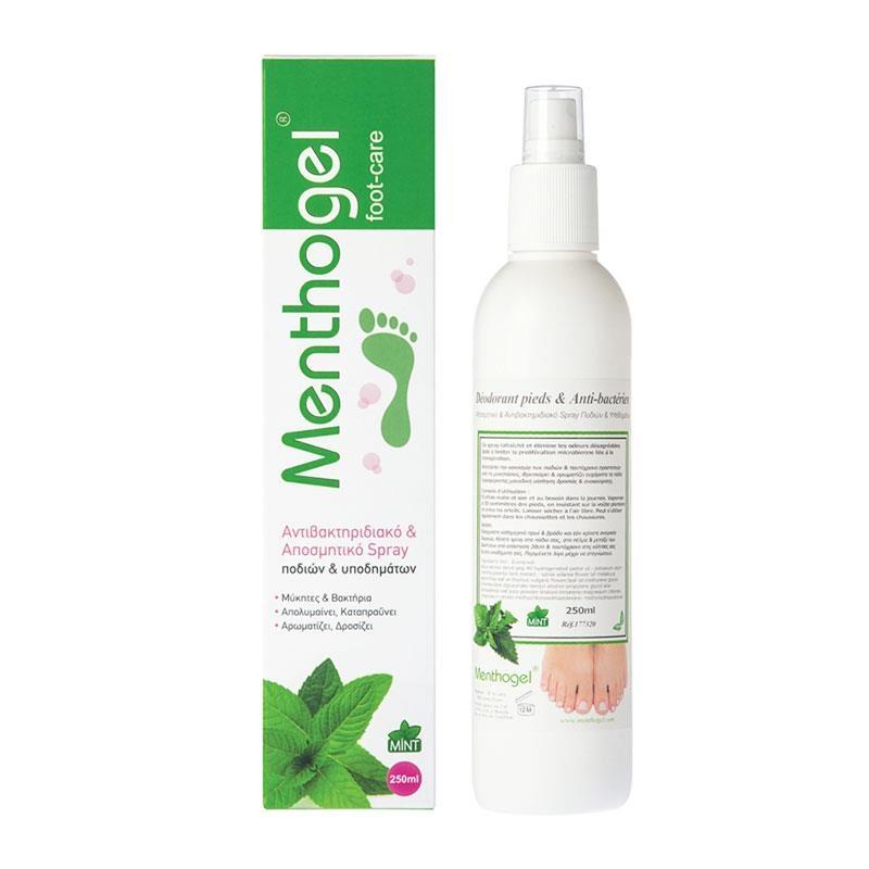 Menthogel Αποσμητικό & Αντιβακτηριδιακό Spray Ποδιών & Υποδημάτων 250ml