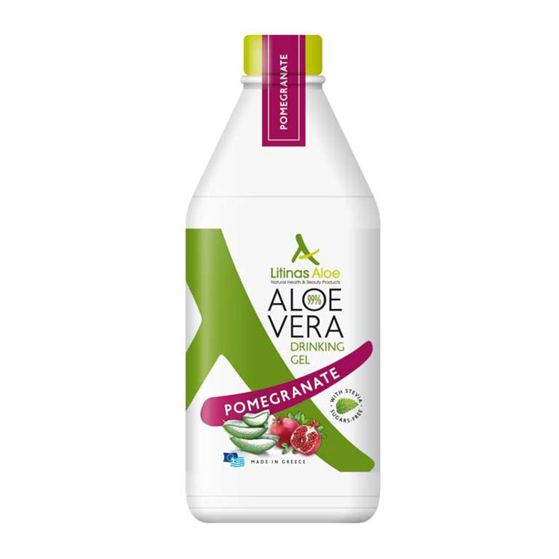 Litinas Aloe Vera Drinking Gel Πόσιμη Αλόη Βέρα με γεύση Ρόδι 1000ml