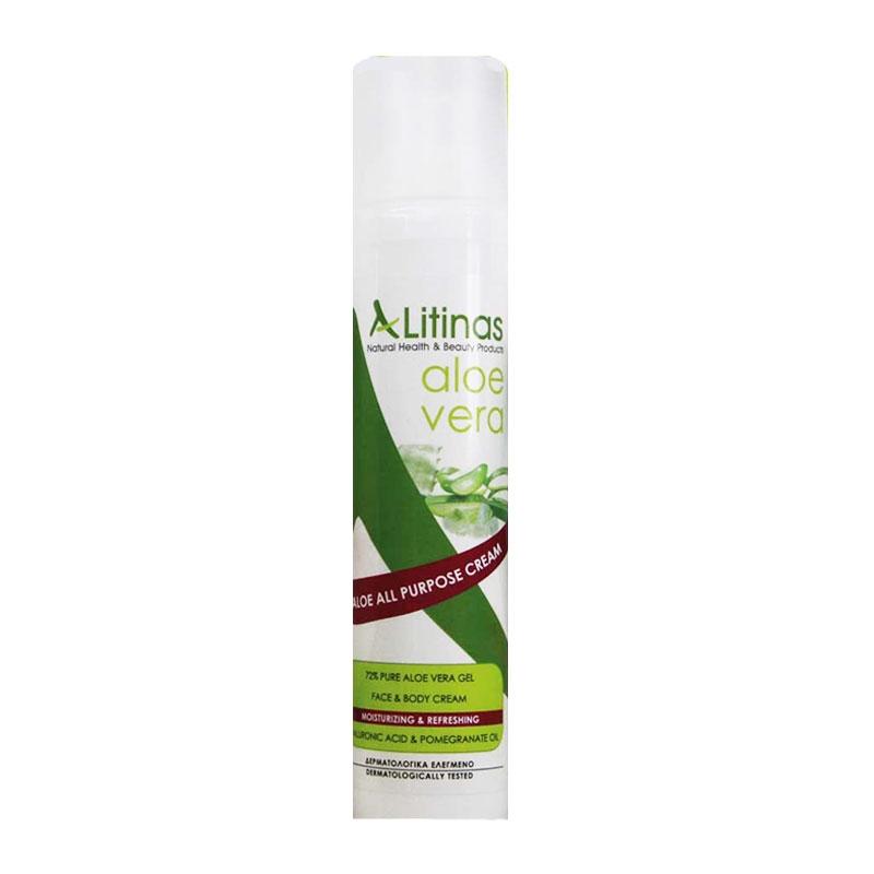 Litinas Aloe All Purpose Cream Ενυδατική Κρέμα Αλόης με Υαλουρονικό 100ml