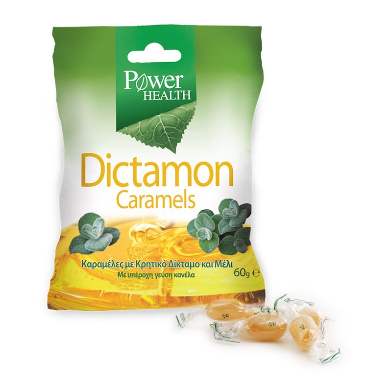 Power Health Dictamon Caramels Καραμέλες με Κρητικό Δίκταμο & Μέλι 60gr