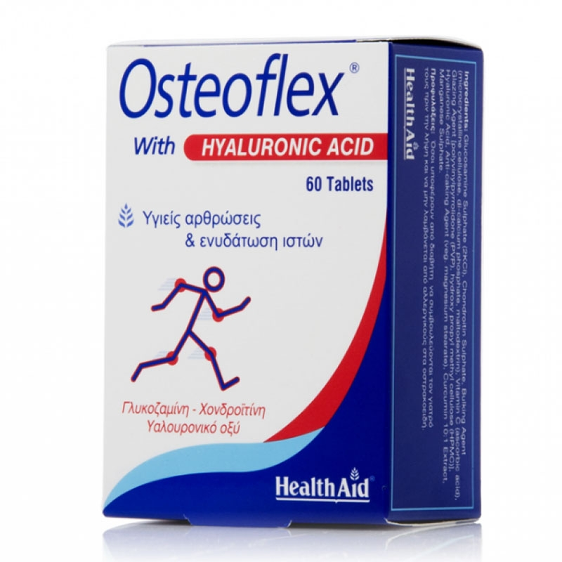 Health Aid Osteoflex with Hyaluronic Acid 60tabs