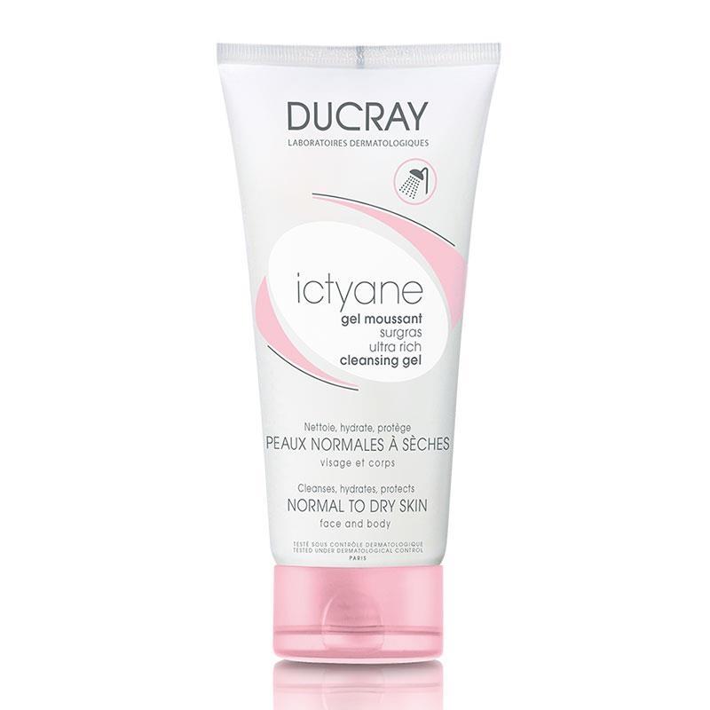 Ducray Ictyane Cleansing Gel Normal to Dry Skin 200ml