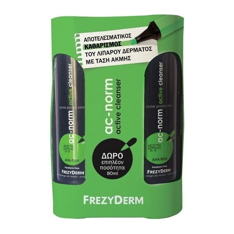 Frezyderm Promo Ac-Norm Active Cleanser 200ml & Δώρο Επιπλέον Ποσότητα 80ml