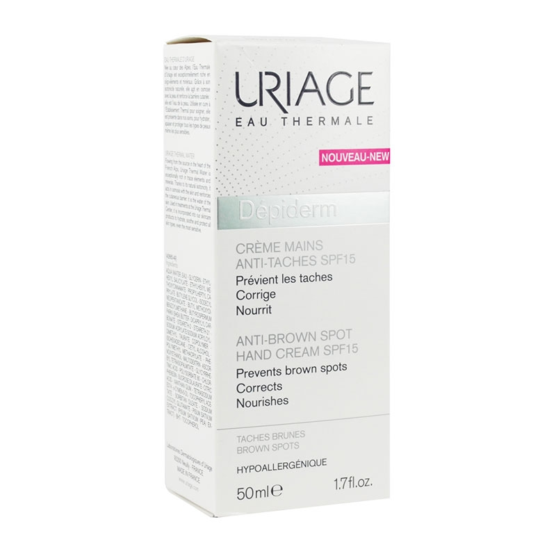 Uriage Depiderm Anti-Brown Spot Hand Cream SPF15 50ml