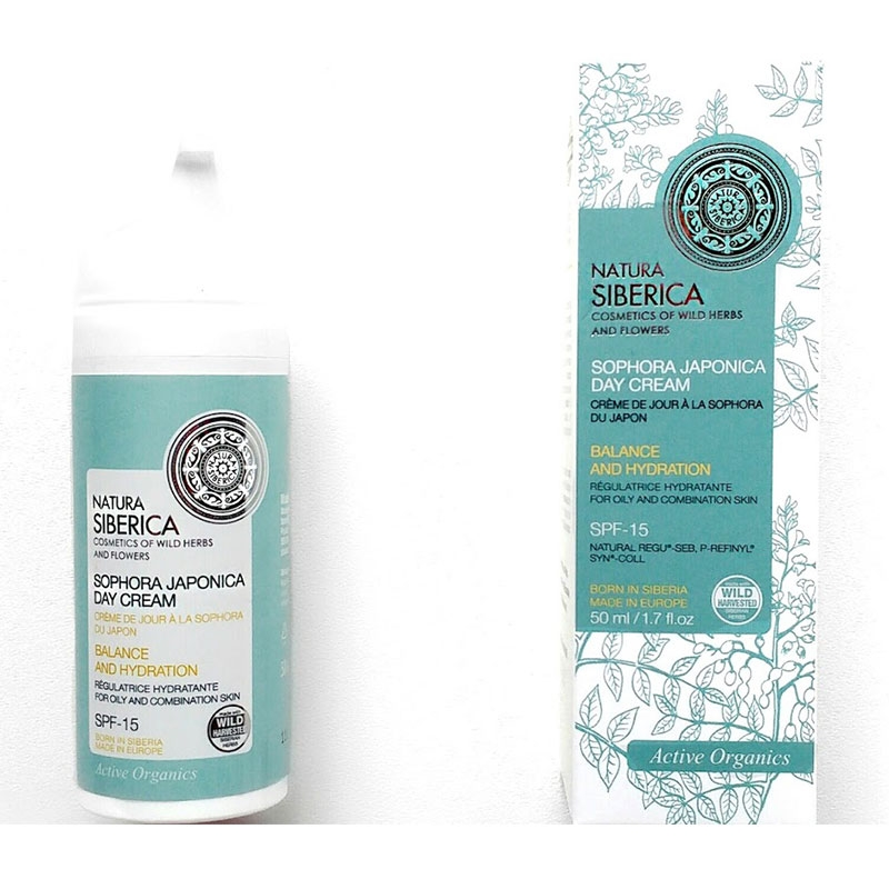 Natura Siberica Sophora Japonica Day Cream για Λιπαρά και Μικτά Δέρματα με Spf-15 50 ml