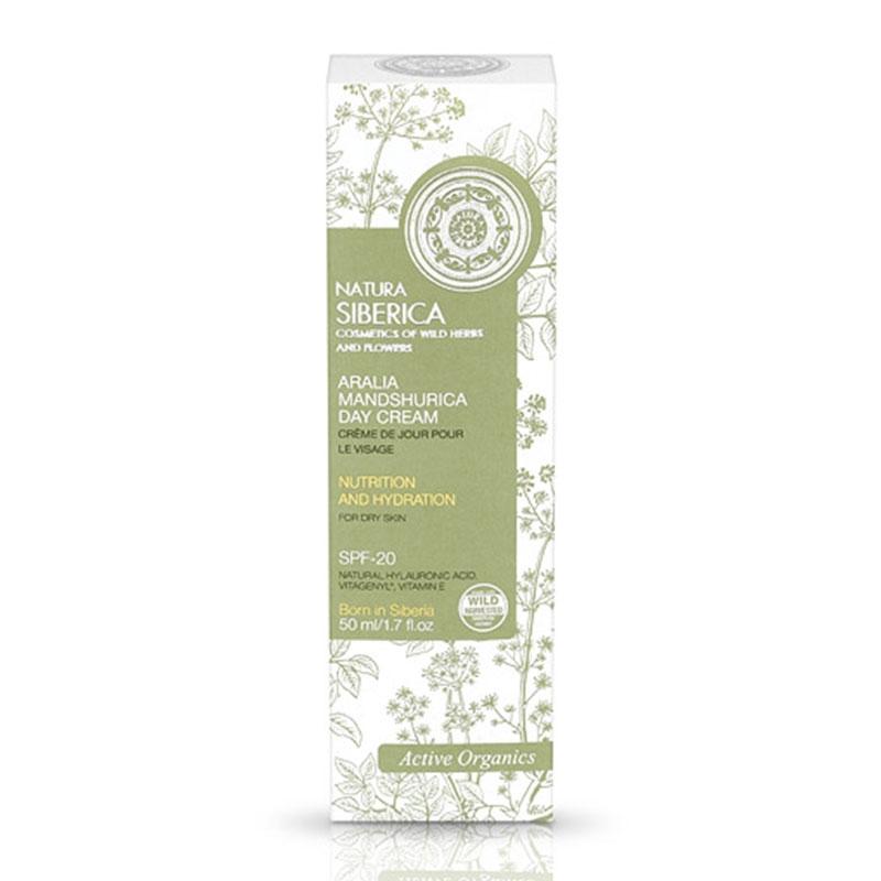 Natura Siberica Aralia Mandshurica Day Cream για Ξηρό Δέρμα με Αντιηλιακή Προστασία SPF-20 50ml