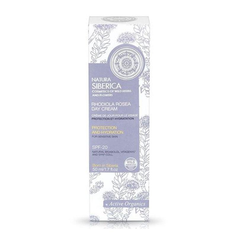 Natura Siberica Rhodiola Rosea Day Cream για Ευαίσθητο Δέρμα με SPF-20 50ml