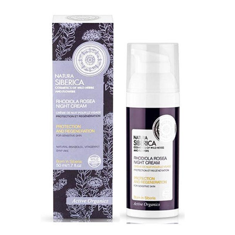 Natura Siberica Rhodiola Rosea Night Cream Προστασία και Ανάπλαση Ευαίσθητο Δέρμα 50 ml