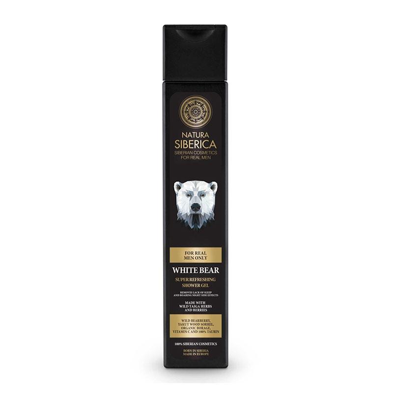 Natura Siberica Men Super Refreshing Shower Gel White Bear  Αναζωογονητικό Αφρόλουτρο 250 ml