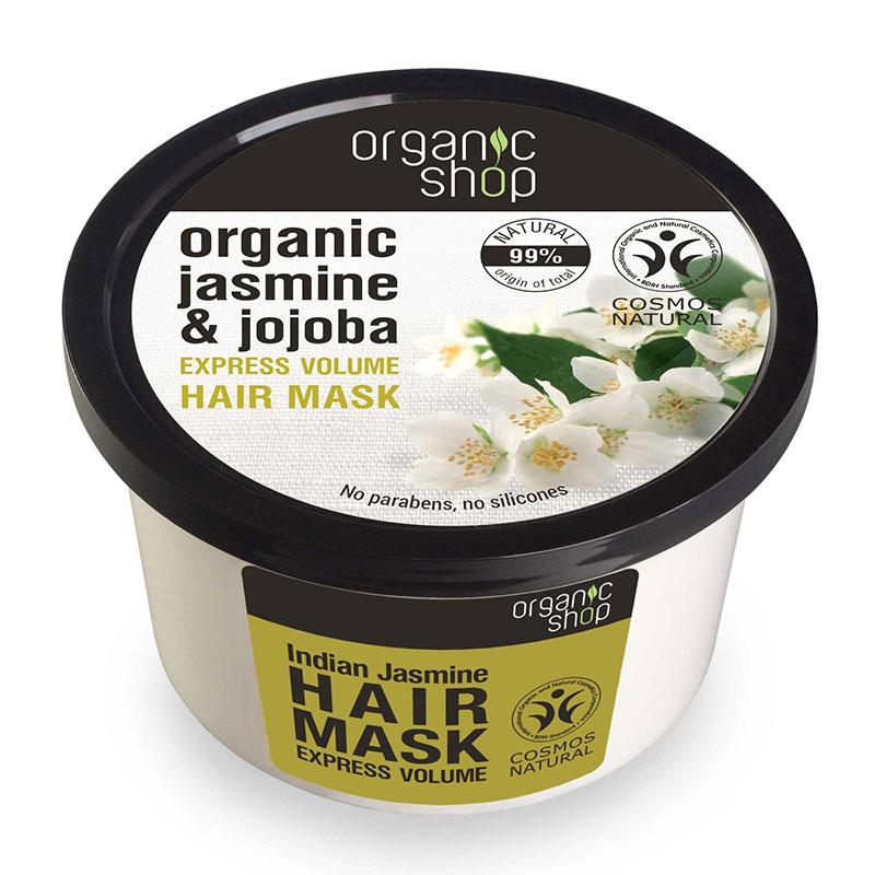 Natura Siberica Organic Shop Βιολογικό Γιασεμί & Jojoba  Μάσκα Μαλλιών για Γρήγορο Όγκο 250ml