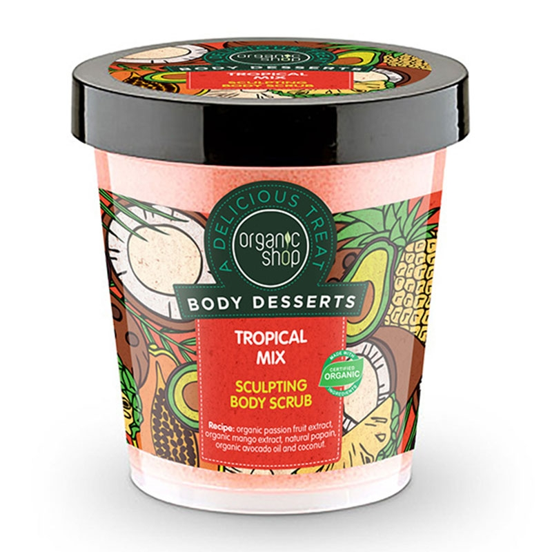 Natura Siberica Organic Shop Body Desserts Tropical Mix Απολεπιστικό Σώματος για Σμίλευση 450 ml
