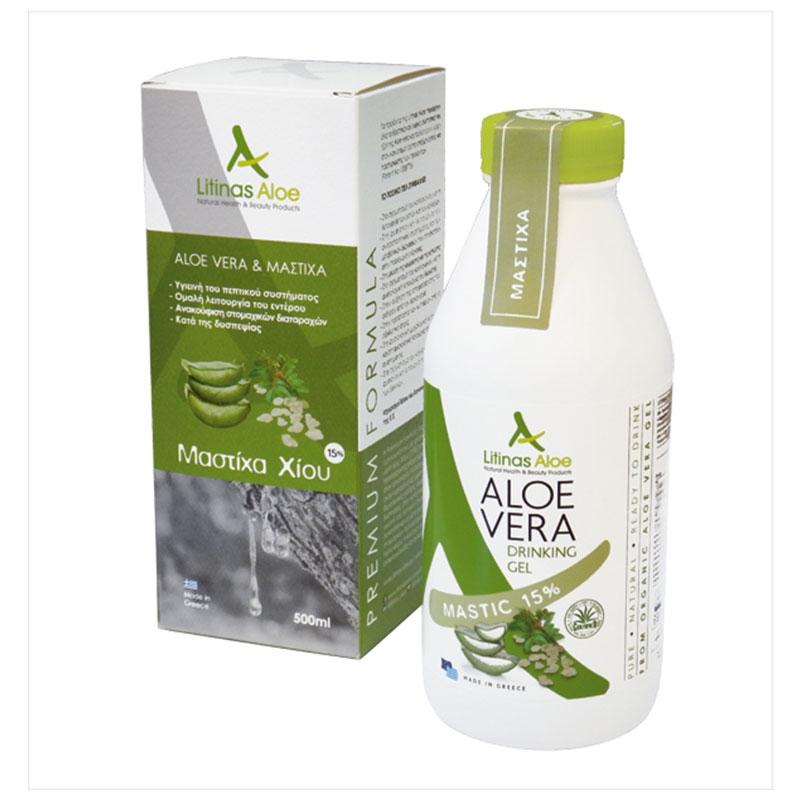 Litinas Aloe Vera Drinking Gel Πόσιμη Αλόη Βέρα &ι Μαστίχα Χίου 500ml