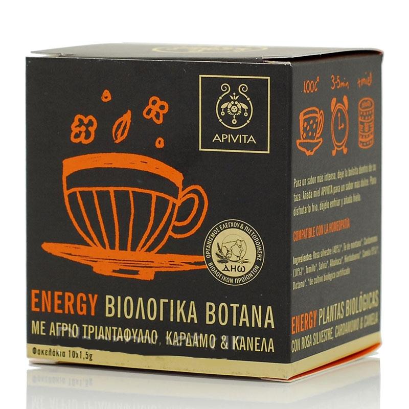 Apivita Organic Herbal Tea Energy 10x1,5gr