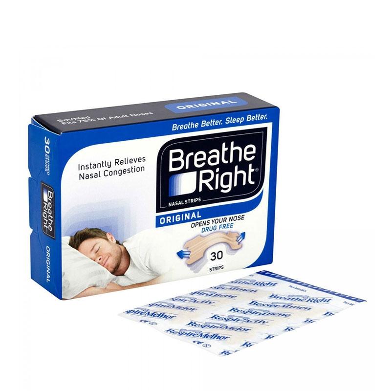 Breathe Right Ταινίες για Ρινική Απόφραξη Κανονικό Δέρμα Μεσαίο Μέγεθος 30τεμ.
