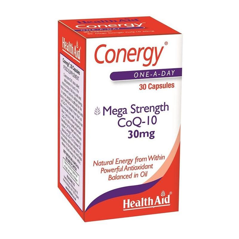 Health Aid Conergy Mega Strength CoQ-10 30mg 90caps