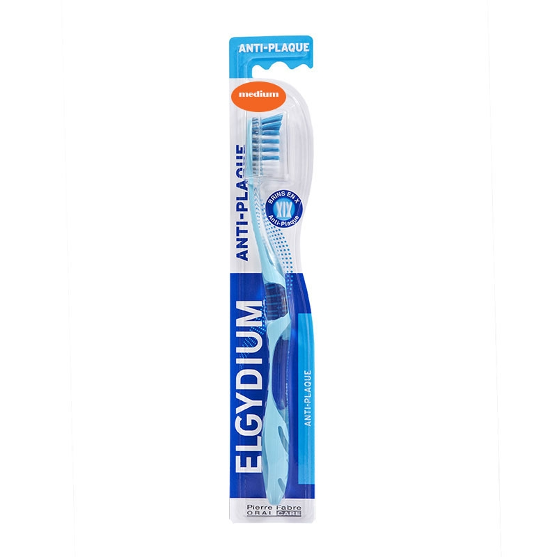 Elgydium Οδοντόβουρτσα Anti-Plaque Μέτρια 1τεμ.