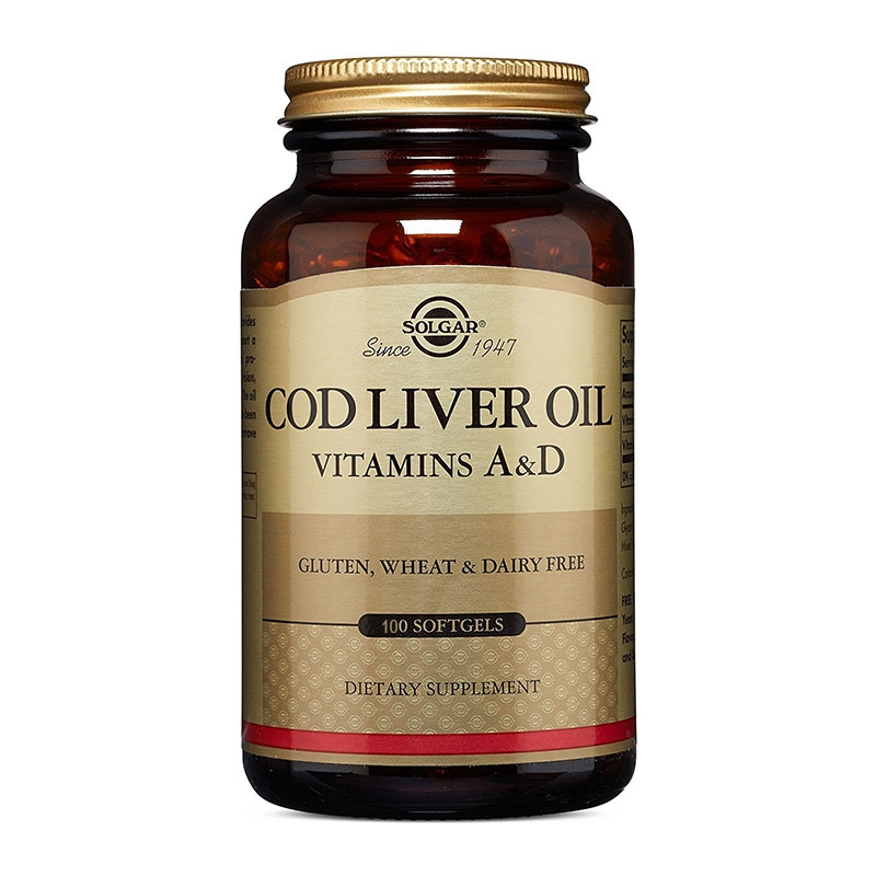 Solgar Cod Liver Oil 100 Μαλακές Κάψουλες