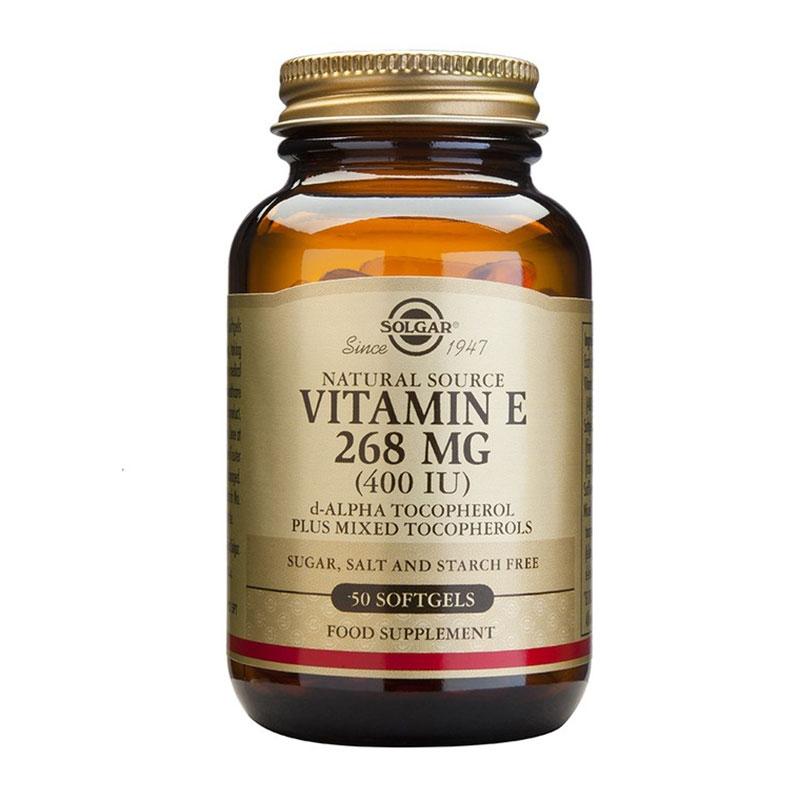 Solgar Vitamin E 268mg 400iu 50 Μαλακές Κάψουλες