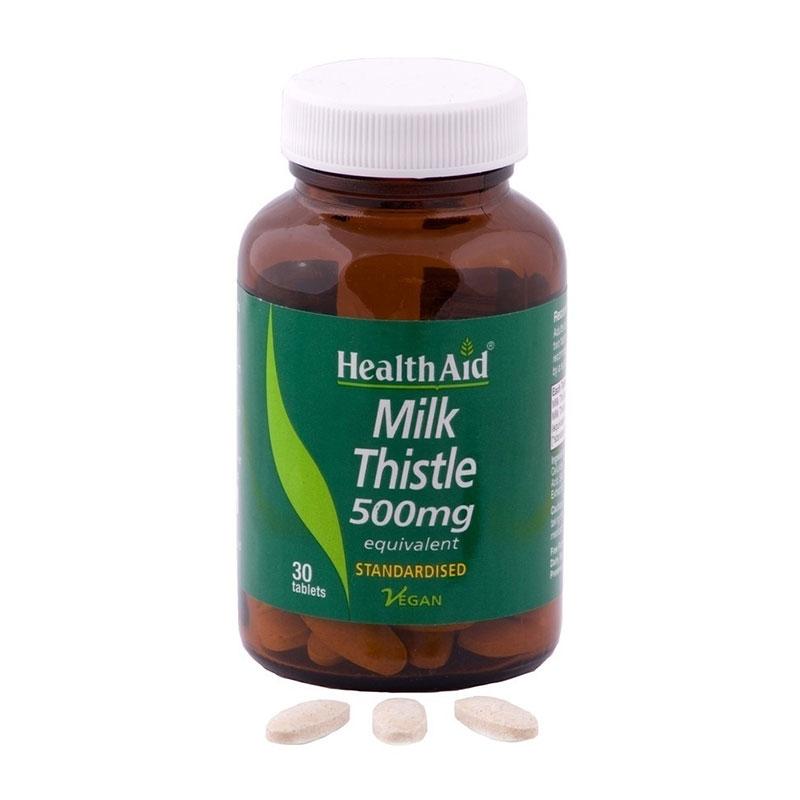 Health Aid Milk Thistle 500mg 30Tabs