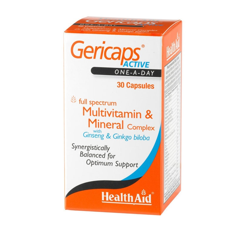 Health Aid Gericaps Active 30 Caps