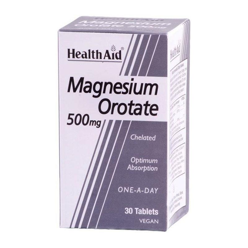Health Aid Magnesium Orotate Μαγνήσιο για Άμεση Απορρόφηση 500mg 30tabs