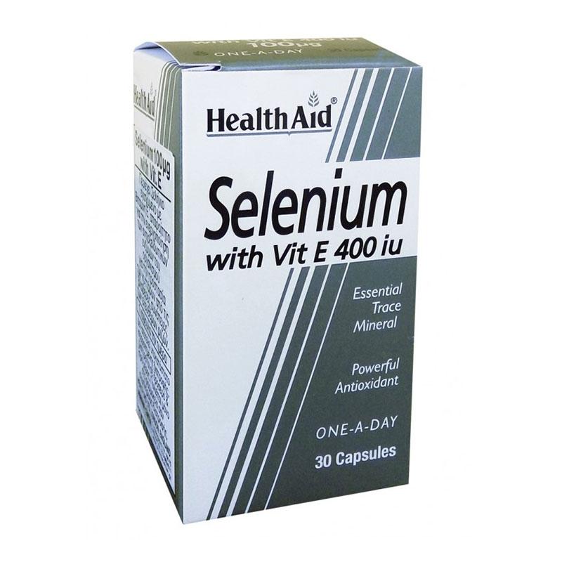 Health Aid Selenium with Vitamin E 400iu 30caps