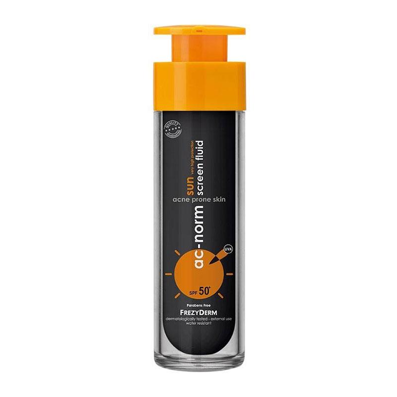 Frezyderm Ac-Norm Sun Screen Fluid Αντηλιακή Κρέμα Προσώπου SPF50 50ml