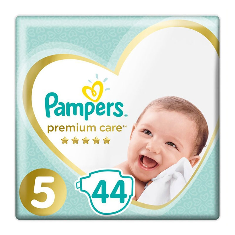 Pampers Πάνες Premium Care Jumbo No 5 (11-16kg) 44τεμ.