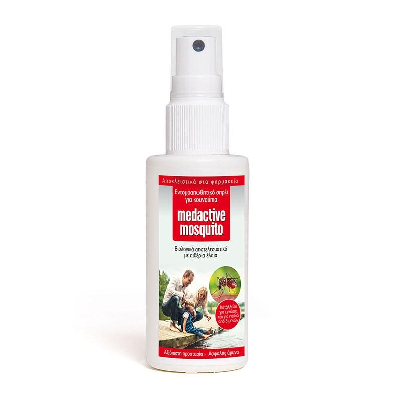 Euromed Medactive Mosquito Εντομοαπωθητικό Spray 100ml