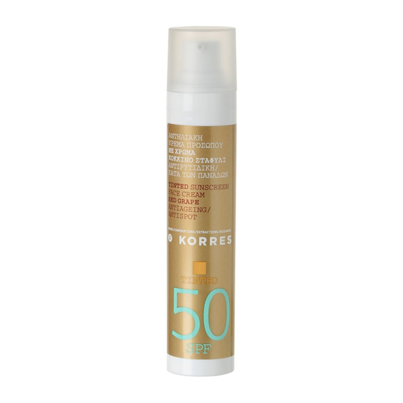 korres red grape color spf50